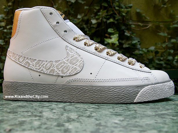 "sports shoes big discount the best attitude WMNS Nike ""White/Gold Croc"" Blazer High | Jayev3ryday's Blog"