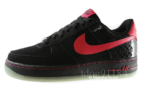 Nike Air Force 1 Black Berry GS [Glow in the Dark Sole] | A