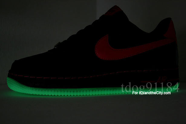 hot sale online b0ce6 530f1 Nike Air Force 1 Black Berry GS  Glow in the Dark Sole    A Day In ...