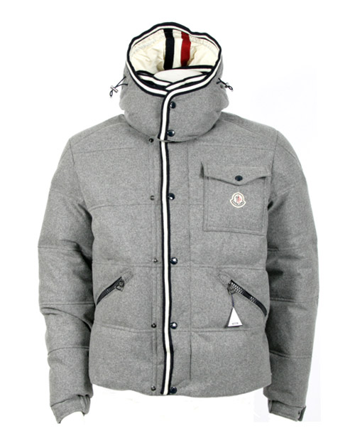 moncler grey wool jacket