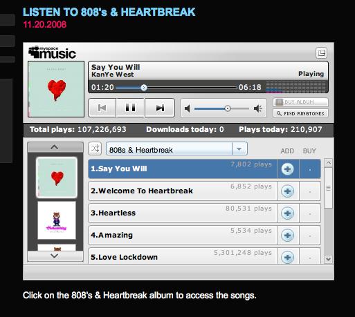 808 and heartbreak album download