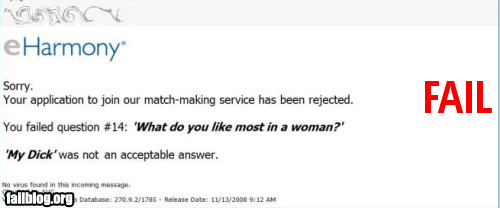 why dating sites fail