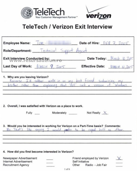 verizonexitinterview